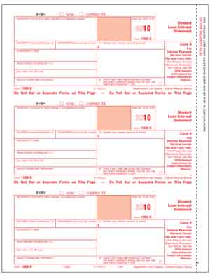 Educational-1098E Tax Forms