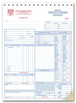 HVAC Service Orders / Invoices