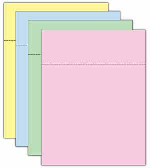 Blank Statement Paper & Pre-inserted Envelope Set